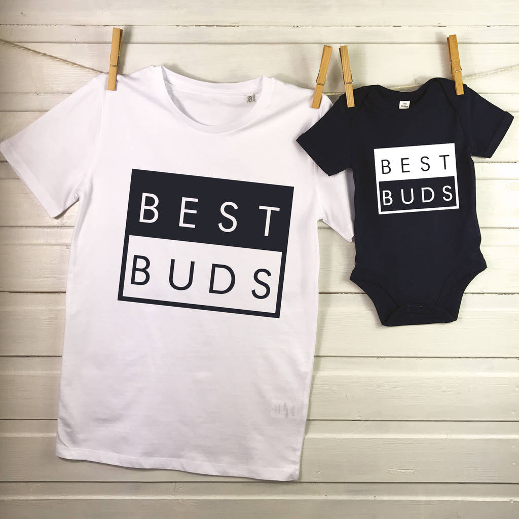best buds father and son matching t shirt setlovetree