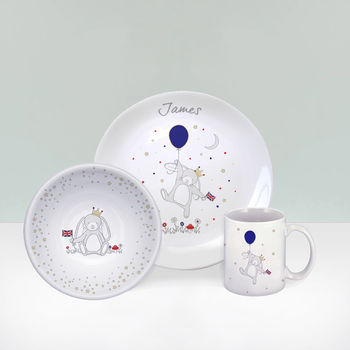 Little Royal Bunny Personalised China Gift Set
