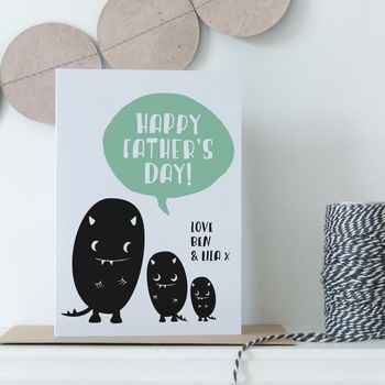 Personalised Monster Father's Day Card