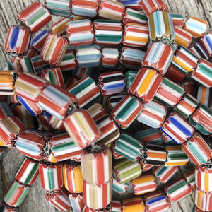 Fair Trade Recycled Pattern Glass Bead Necklaces