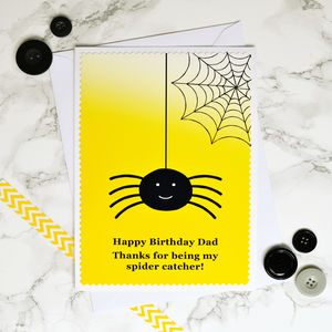 'Spider Catcher' Personalised Birthday Card