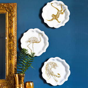 Wild Animal Gold Foil Plates - decoration