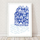 Santorini Limited Edition Art Print Framing Available