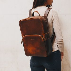 Leather Backpack For Men And Women '' Porter '' - backpacks