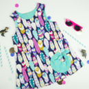 Girls Feather And Gold Pinafore Dress