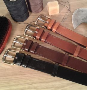 Handmade Exeter English Leather Belt - belts