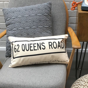 Home Is Where You Are Personalised Housewarming Cushion - living room