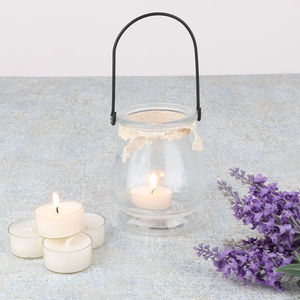 Vintage Glass Tea Light Holder With Five Tea Lights