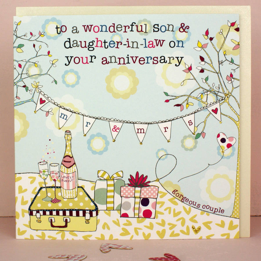 Wedding Anniversary Gift For Daughter And Son In Law : ... > MOLLY MAE > SON AND DAUGHTER IN LAW WEDDING OR ANNIVERSARY CARD