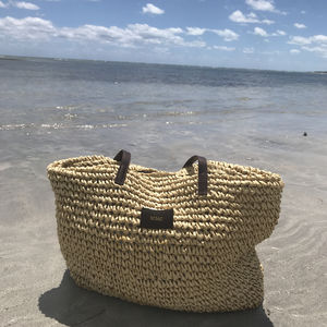Personalised Straw Beach Bag