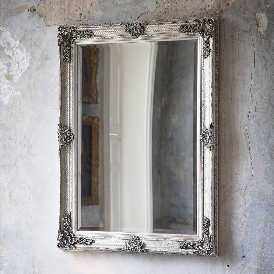 Decorative Antique Silver Wall Mirror By Primrose Amp Plum