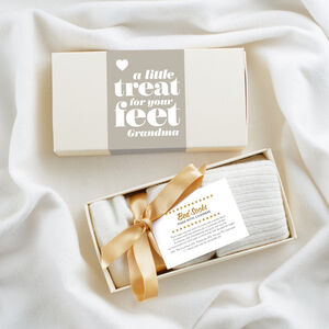 Luxury Cashmere Bed Socks In Gift Box