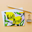 Citrus Lemons 'Well Done!' Greetings Card