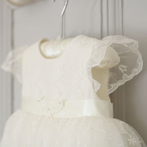 Ava Personalised Lace Christening Gown - christening wear