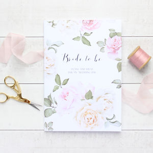 'Bride To Be' Secret Garden Wedding Notebook Planner