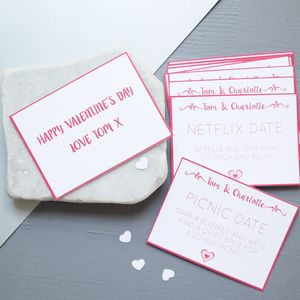 Personalised Date Night Cards - tokens & tags