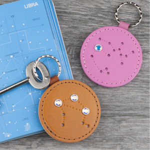 Zodiac Constellation Keyring With Swarovski Accent