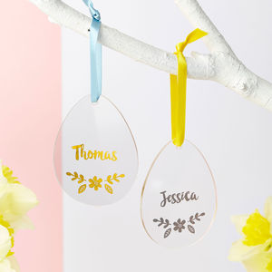 Personalised Foiled Easter Decoration - easter decorations