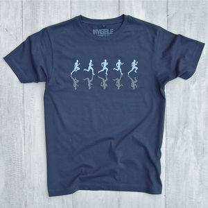 Runners T Shirt With Reflective Print - Mens T-shirts & vests