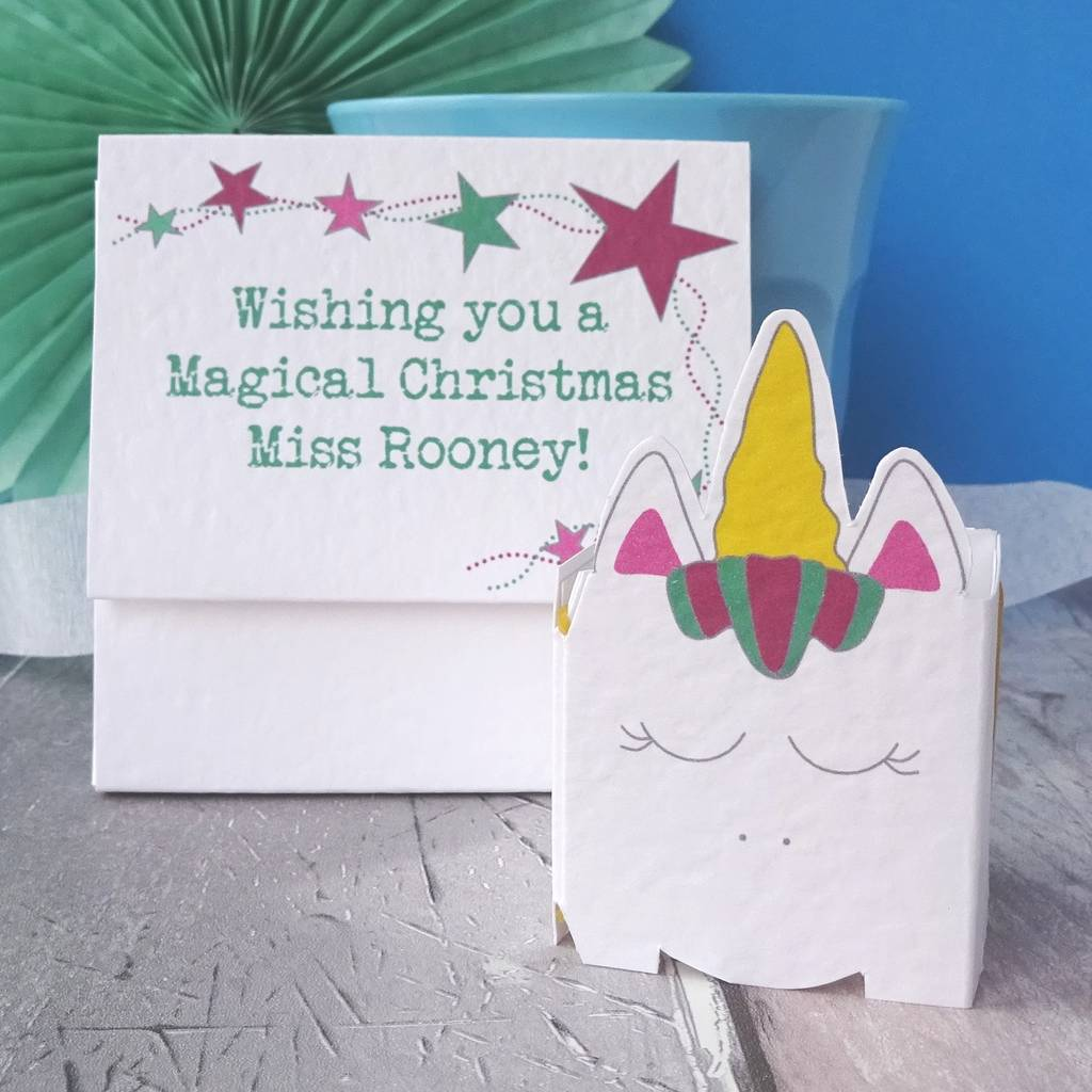 Personalised Christmas Card For Teacher By Paperbuzz