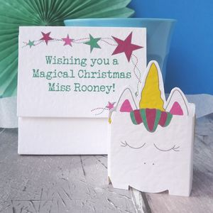 Personalised Christmas Card For Teacher - cards