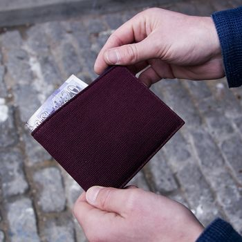 40 Colori Made in Italy - Burgundy Knitted Silk and Leather Wallet