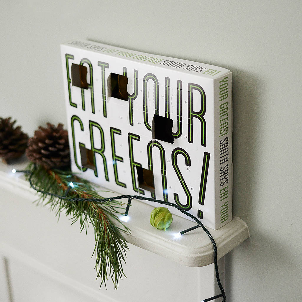 eat your greens chocolate sprouts advent calendar by quirky gift ...