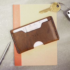 Personalised Men's Leather Card Holder - gifts for him