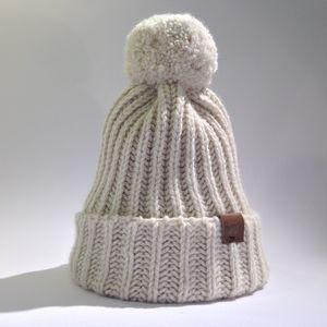 Alpaca Pom Pom Beanie Hat - cosy knits and cashmere