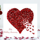 Ruby Wedding Anniversary Butterfly Heart Card