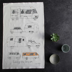 Caravan And Campervan Tea Towel - kitchen accessories