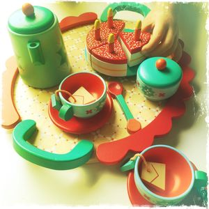 Wooden Toy Birthday Party Tea Set - toys & games