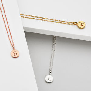 Medium Personalised 18ct Gold Initial Pendant Necklace