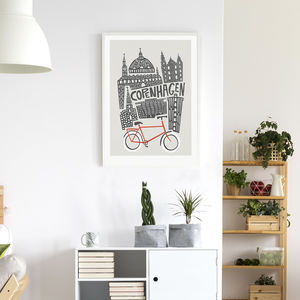 Copenhagen City Print - maps & locations