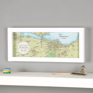 Hand Drawn Map Location Graduation Print Gift