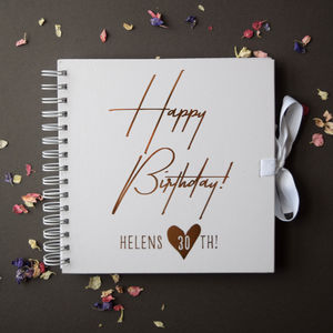 Birthday Guest Book - albums & guest books