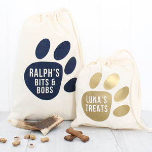 Personalised Pet Storage Bag - ribbon & wrap