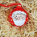 Hand Painted Father Christmas Baubel