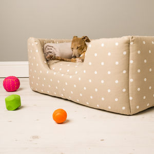 Charley Chau Deep Sided Dog Bed In Cotton