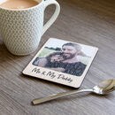 Personalised Photo Coaster Oak Veneer