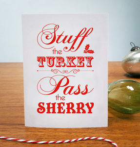 Stuff The Turkey Christmas Card - new in christmas