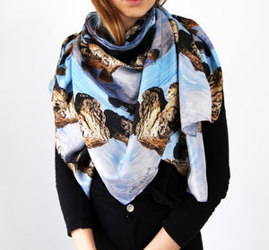 Arthurs Cove Silk Scarf - womens