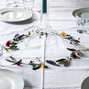 Glass Candle Holder 'Root' - home accessories