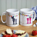 Personalised Welly 'Mr And Mrs' Mugs