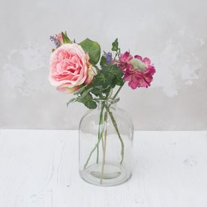Faux Bouquet In Bell Vase - home accessories