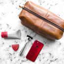 Personalised Shaving Gift Set And Wash Bag
