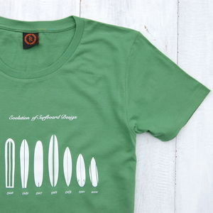 Surfboard Evolution T Shirt