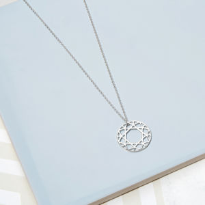 Silver Brilliant Diamond Necklace