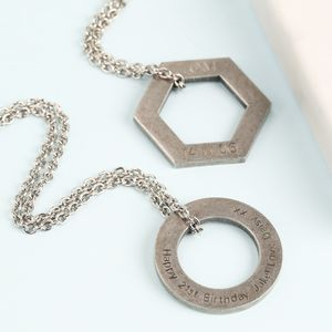 Men's Personalised Stainless Steel Pendant Necklace