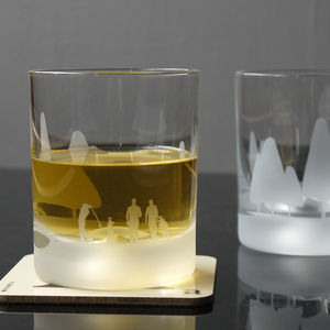 Crystal Golf Scene Glass - gifts for golfers